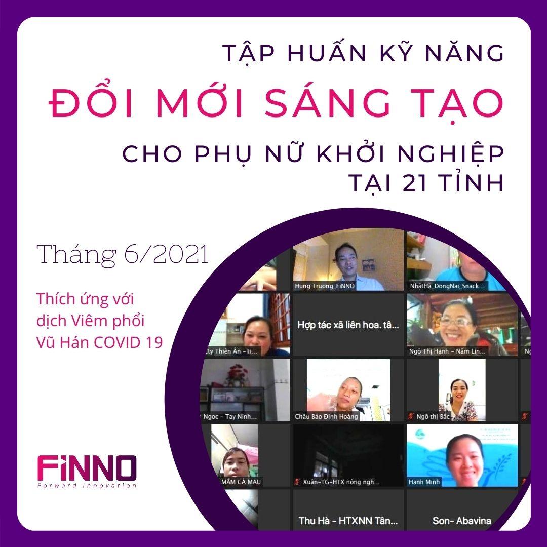 FiNNO - Chuyên gia đổi mới sáng tạo tập huấn kỹ năng cho phụ nữ khởi nghiệp tại 21 tỉnh
